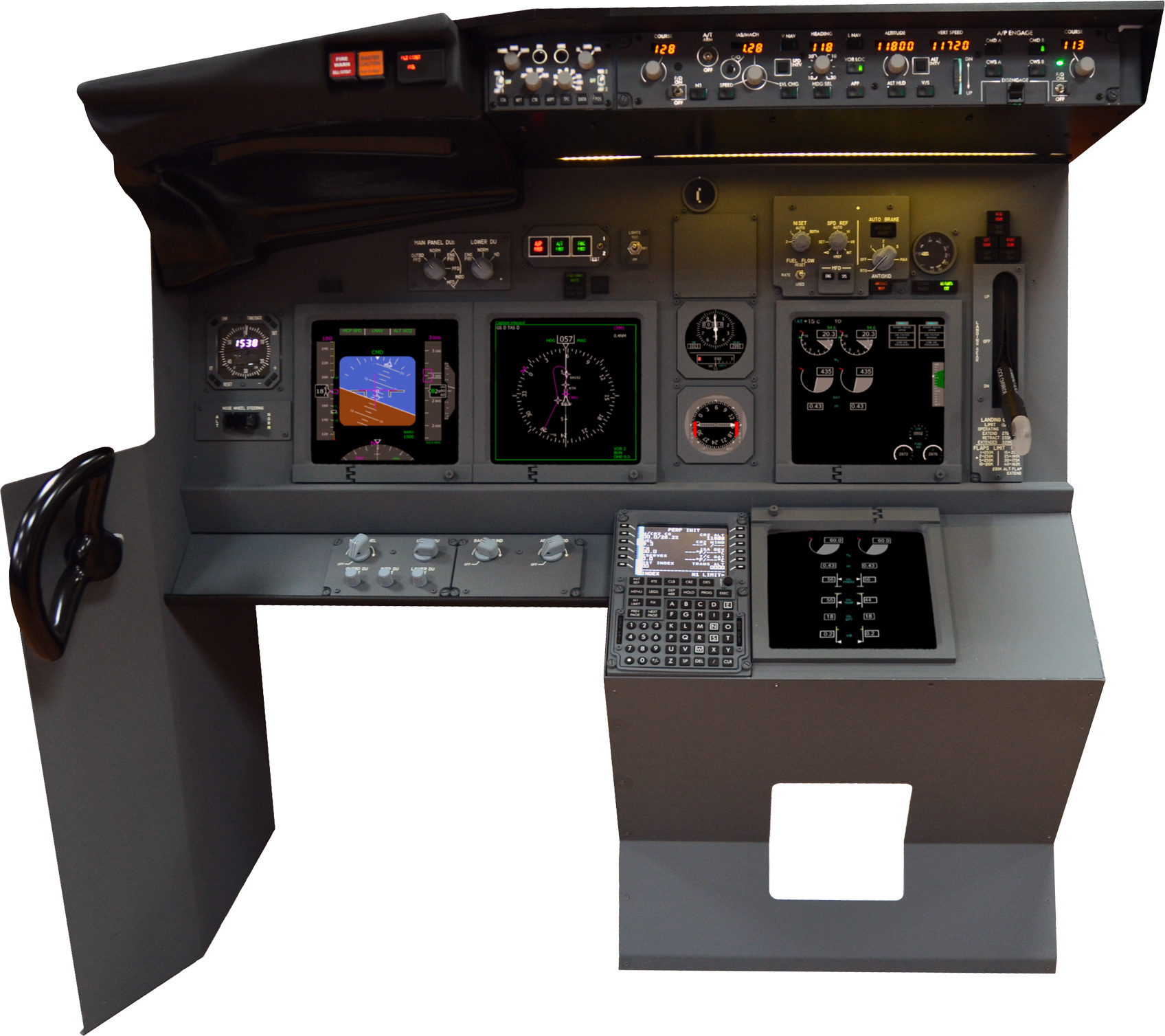 b737 single seat trainer  structure   components