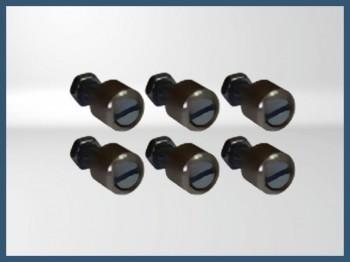 Aluminium DZUS fastener (x6)