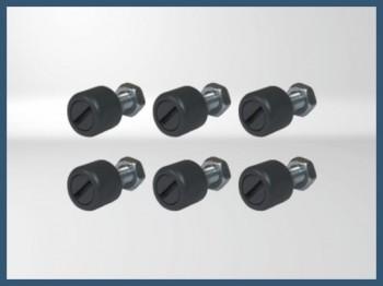 Replica -fastener- DZUS Pintado Boeing (x6)