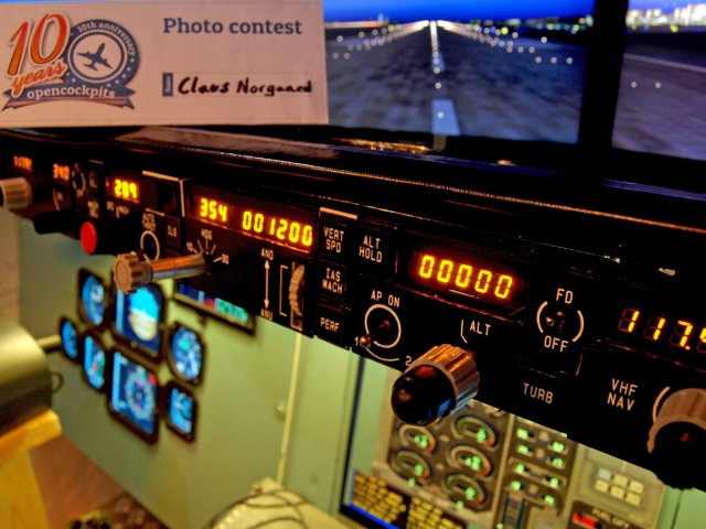 Close up autopilot displays